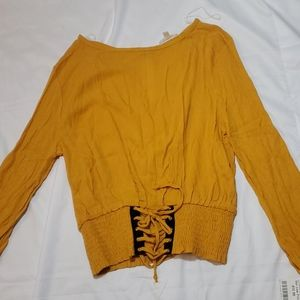 Mustard colored top